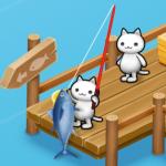 ほしの島のにゃんこ、キングサーモンを釣る方法