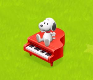 ほしの島のにゃんこのスヌーピーのピアノ