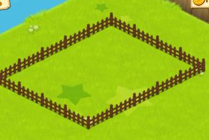 ほしの島のにゃんこ柵で囲い