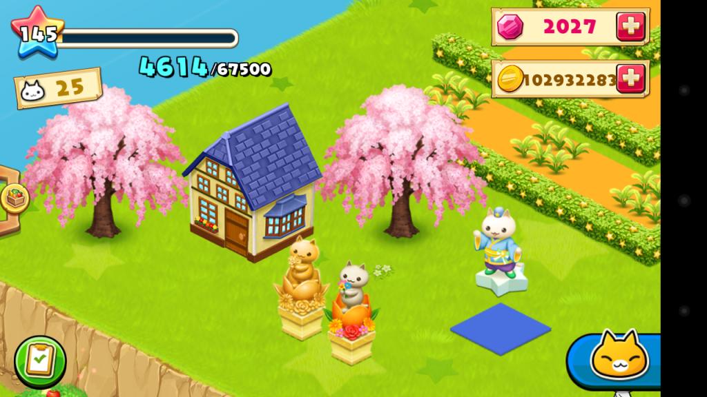 ほしの島のにゃんこ、桜など設置