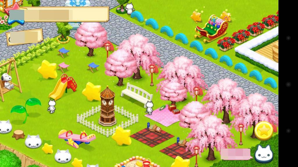 ほしの島のにゃんこ、レイアウト桜1