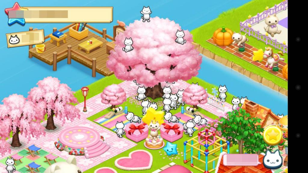 ほしの島のにゃんこ、レイアウト桜3